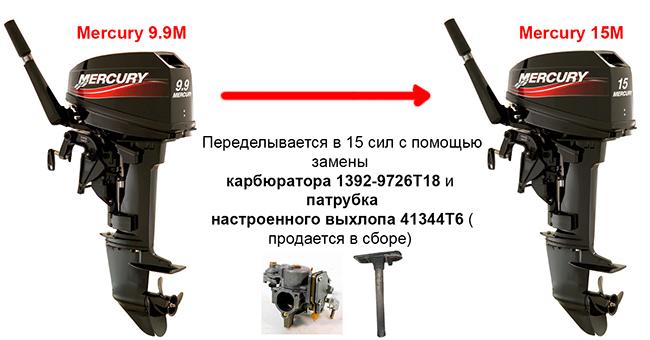 Переделка Mercury 9.9M в 15M